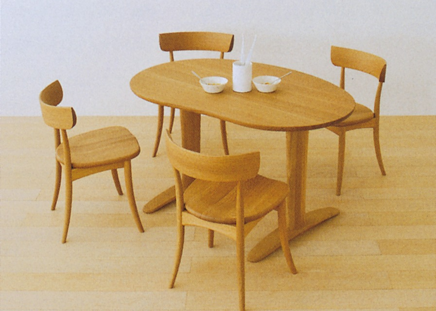 関西家具総本店。美しい造形と木の持つ個性 「飛騨の家具」をテーブルオーダー