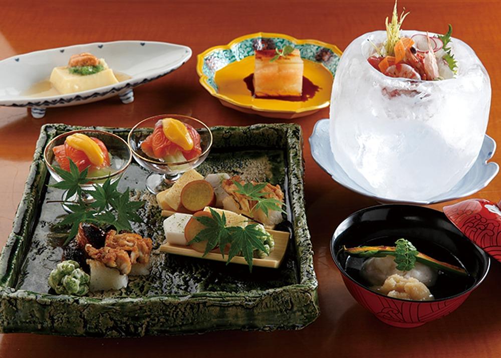日本料理おばな。古都の灯りめぐりに寄せて目と舌に涼感美味の『納涼会席』。奈良グルメ