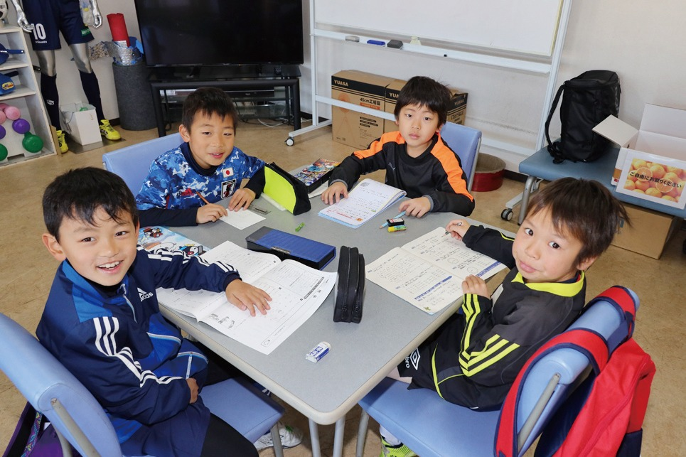 冬休みの宿題も、 チームメイトと一緒だと面白い!