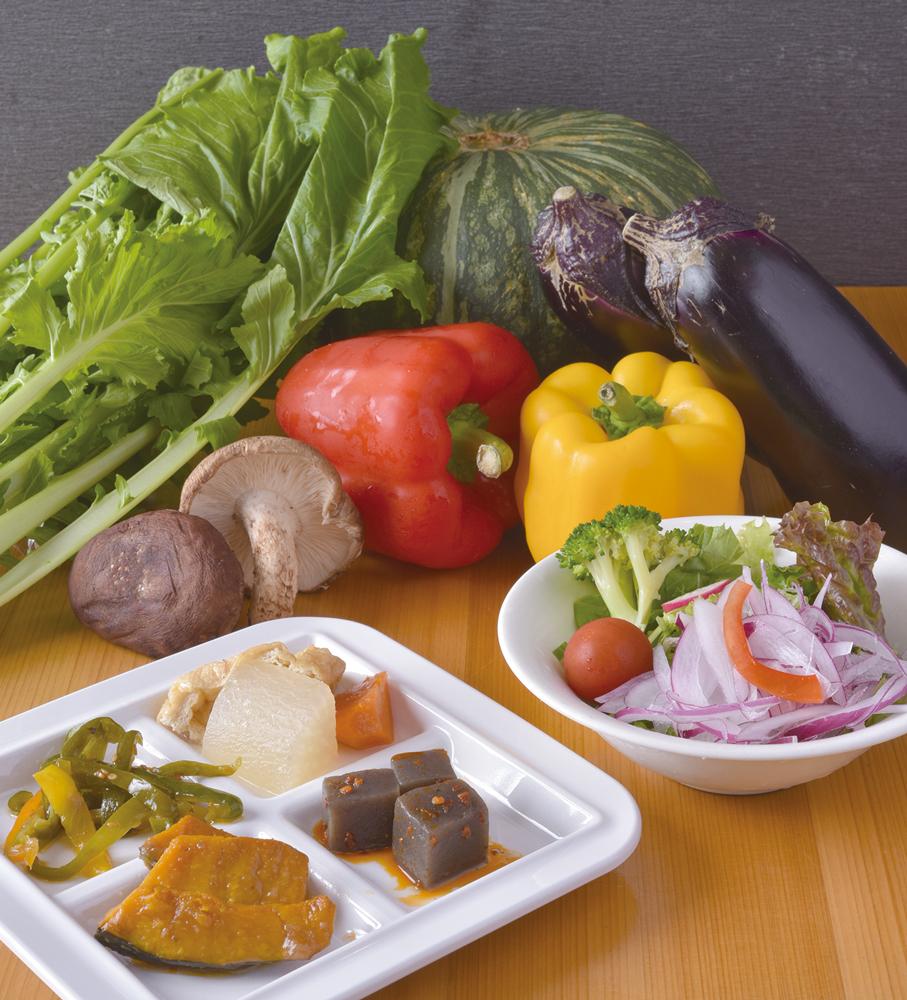野菜自慢! 健康ヘルシーセット480円(税別)※サラダボウルと選べる野菜プレートだけのセットもご用意!